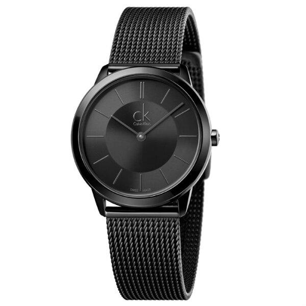 CK經典系列(K3M224B1)炫黑米蘭時尚腕錶黑面35mm