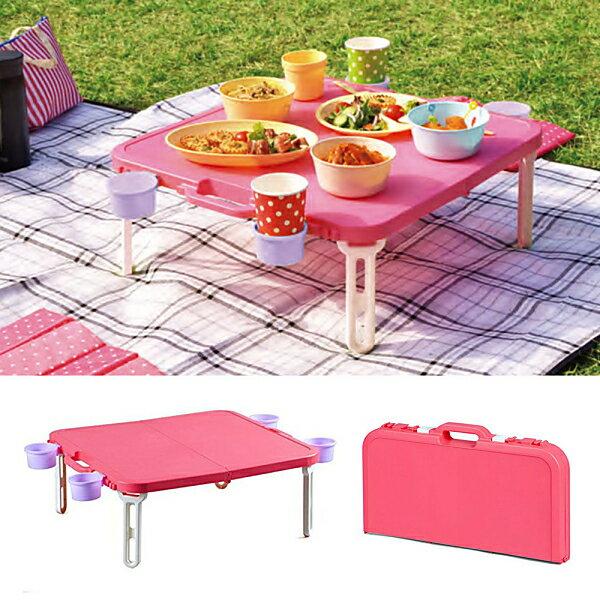日本SHINWA伸和 野餐桌(藍 / 紅) 1