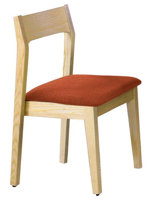 ~尚品傢俱~JF~983~8 布蘭妮栓木橘色布餐椅