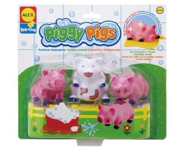 【奇買親子購物網】美國ALEX 愛洗澡的狗/愛洗澡的豬