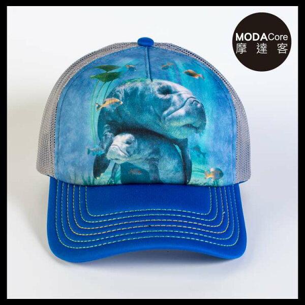 【摩達客】(預購)美國進口TheMountain親子海牛藝術棒球帽網帽5-Panel新五分割帽