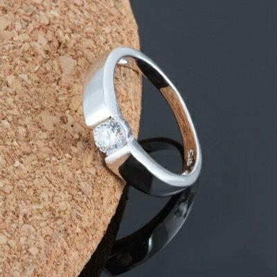 925純銀戒指鑲鑽銀飾-簡潔大方亮眼有型父親節生日情人節禮物男飾品73dx32【獨家進口】【米蘭精品】