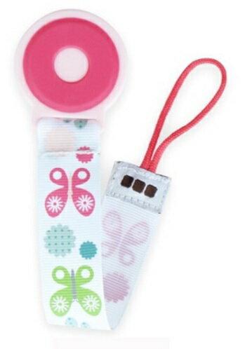 【淘氣寶寶】JJ COLE Pacifier Clip 奶嘴鍊 (pink flutter) 粉蝴蝶【保證原廠公司貨】