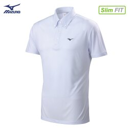 32TA802101(白)吸汗快乾材質合身版型 男短袖POLO衫【美津濃MIZUNO】