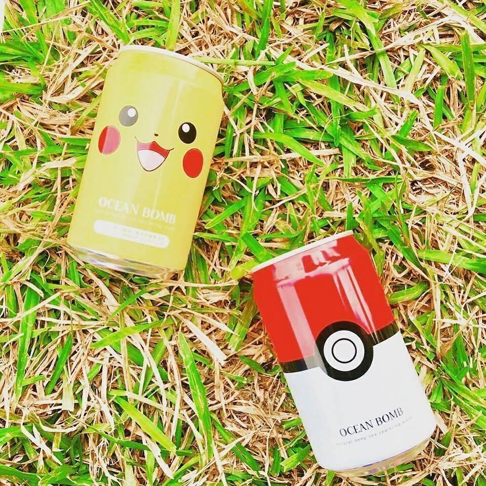 【 8瓶組 寶可夢 氣泡水 】 YHB OCEAN BOMB 皮卡丘 寶貝球 pokemon