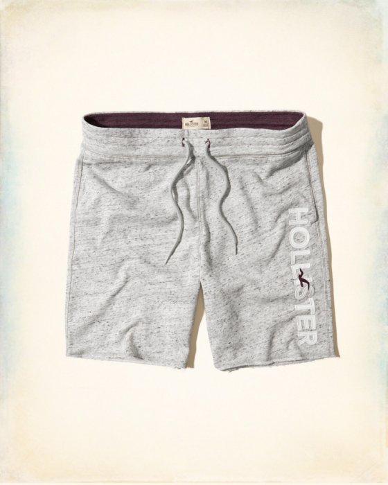 美國百分百【Hollister Co.】褲子 HCO 海鷗 短褲 棉褲 運動褲 休閒褲 淺麻灰 男 XS-XL H956