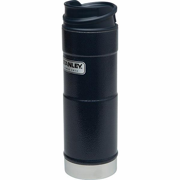 ├登山樂┤ 美國 Stanley 經典系列 單手保溫咖啡杯 0.35L-錘紋藍 # 10-01569-BL 1