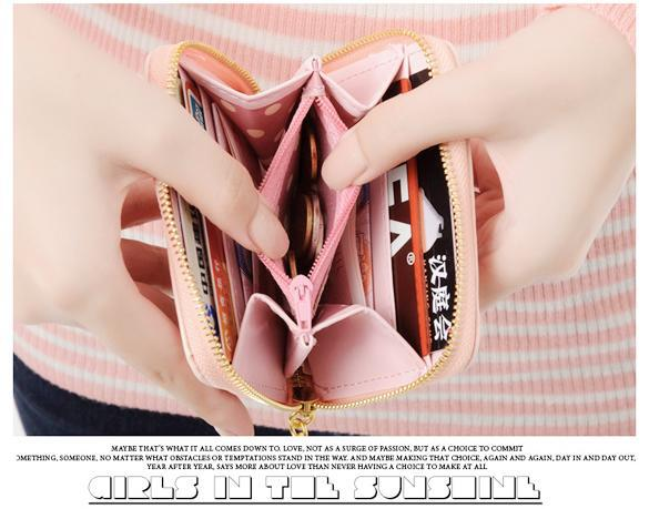 Women Wallet mini Synthetic Leather Card Holder 3