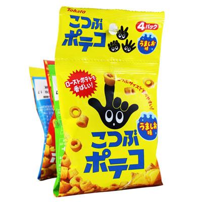 東鳩4連迷你手指圈圈餅-鹽味(64g)