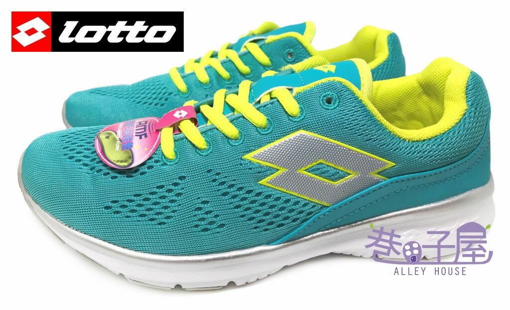 【巷子屋】義大利第一品牌-LOTTO樂得 女款編織輕旅樂活運動慢跑鞋 記憶鞋墊 [3485] 松綠 超值價$531