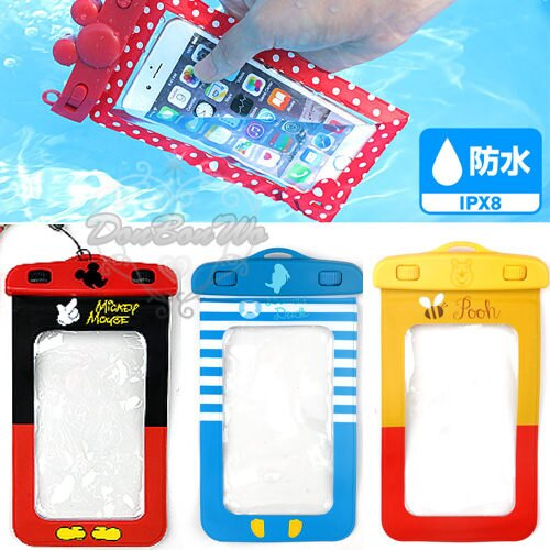 迪士尼米奇米妮唐老鴨維尼熊奇奇iphone6沙灘潛水防水手機袋手機殼061744海渡