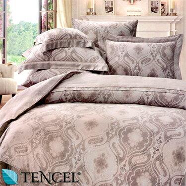 ~名流寢飾家居館~左岸風情.100%天絲.360條紗.超柔觸感. 雙人床包組兩用鋪棉被套全