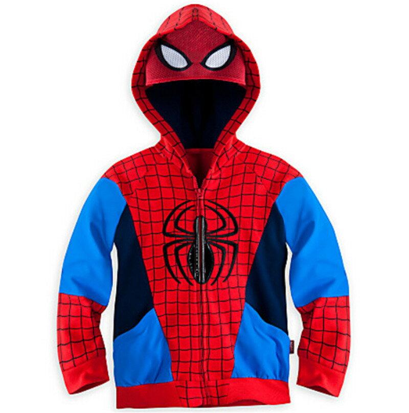 SKW-064-2訂製款兒童春秋季新款歐美時尚男童連帽蜘蛛人造型外套