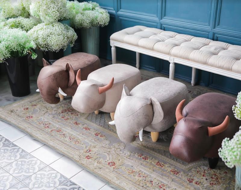動物矮凳 動物造型椅-水牛椅,大象椅 居家擺設椅子 0