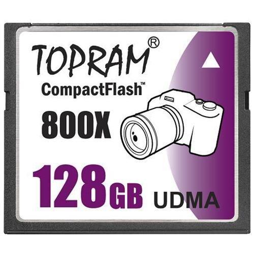 TOPRAM 128GB CF 128G CompactFlash Card 800X 120MB/s Extreme Speed UDMA 7 RAW 0