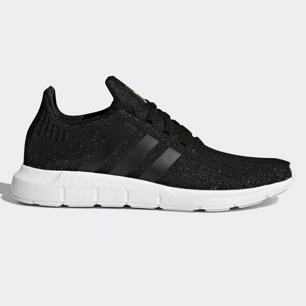 AdidasSwiftRun女鞋慢跑休閒襪套網布透氣輕量黑【運動世界】CQ2018