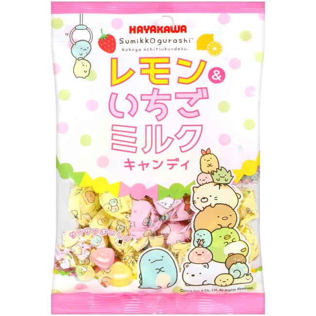 【HAYAKAWA早川】角落生物雙色水果糖-檸檬和草莓牛奶風味 80g すみっコぐらし レモン&いちごミルクキャンディ 日本進口糖果