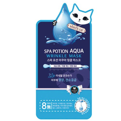 White Cat溫泉水保濕抗皺面膜25g【愛買】
