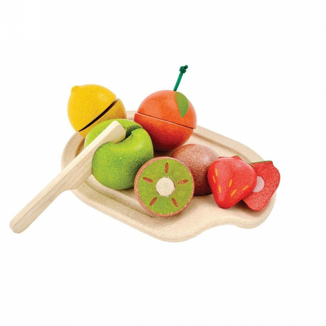 《  PLAN TOYS 》木製  小主廚-切切鮮果盤 東喬精品百貨