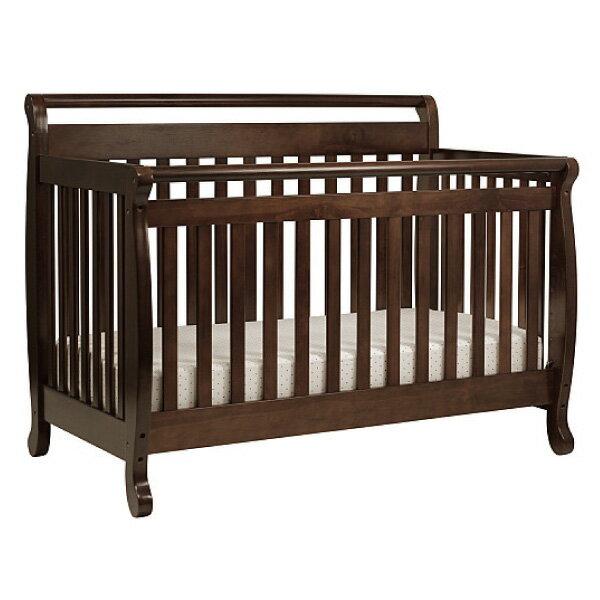 喬依思 La joie Rockland 艾蜜莉四合一成長床(附床墊+護欄)-(褐色)