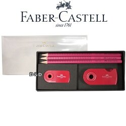 ~ Faber ~ Castell 輝柏 ~握得住鉛筆 組   紅色