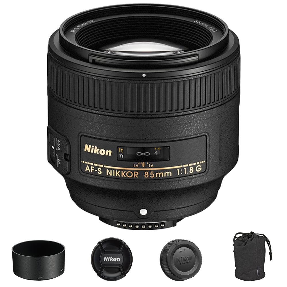 Nikon AF-S NIKKOR 85mm f/1.8G Lens International Model
