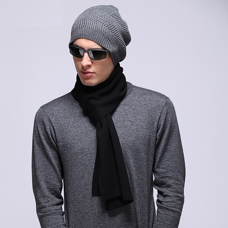 毛帽羊毛針織帽-護耳包頭圓頂純色男帽子2色73wj50【獨家進口】【米蘭精品】 1