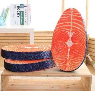 貓咪最愛 仿真鮭魚抱枕 枕頭 鮭魚排抱枕 靠墊 坐墊 趴墊 (預購7-14天)
