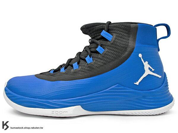 2017 NBA 公牛隊 神之子 Jimmy Butler 最新代言 NIKE JORDAN ULTRA FLY 2 X 藍黑 靴型鞋面包覆 中底 ZOOM AIR 氣墊 XDR 耐磨橡膠外底 AJ ..