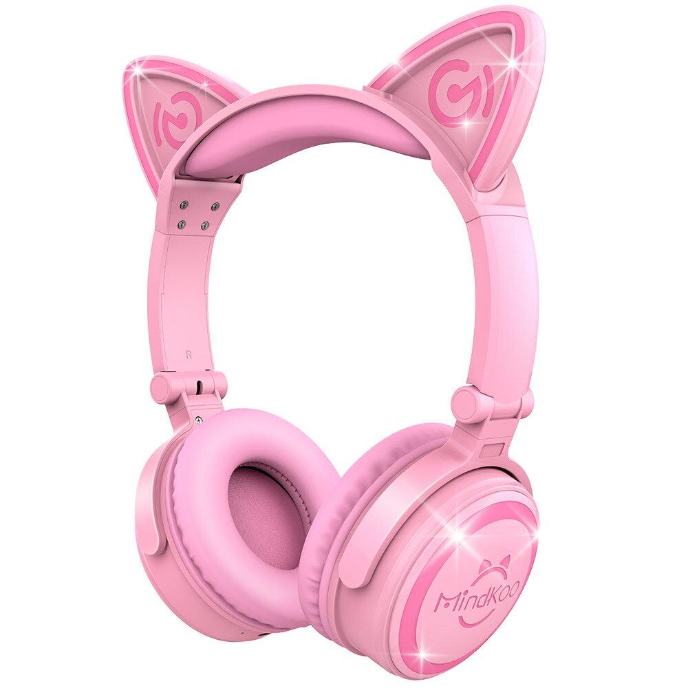 a3c9e6b37f1 Mindkoo Unicat Pink Wireless Cat Ear Headphones Light the Ears Feel the Fun  0