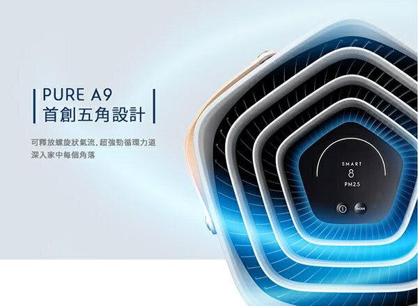 《搭贈原廠濾網+氣炸鍋》Electrolux PA91-606GY 伊萊克斯 高效抗菌智能清淨機 Pure A9 (優雅灰)