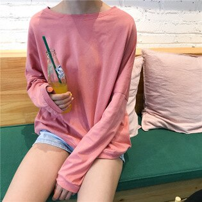 [全店免運] 基礎款簡單純色淨色長袖T恤 / 樂天時尚館