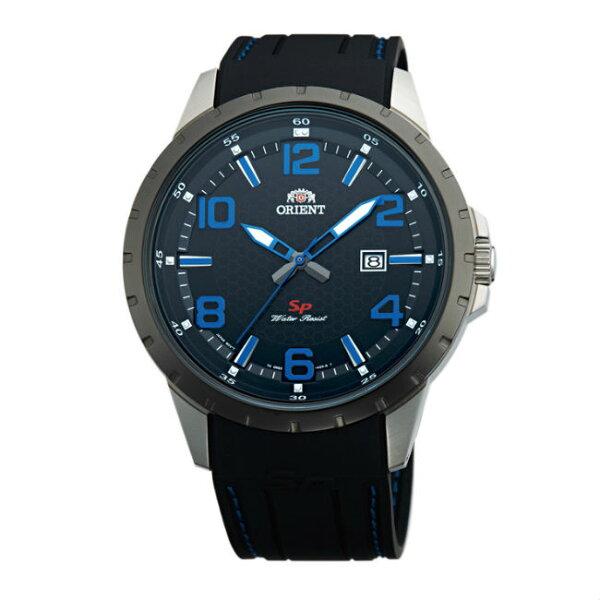 ORIENT東方錶ORIENT東方錶SP系列(FUNG3006B)數字日期顯示運動石英錶橡膠錶帶款藍色43.9mm