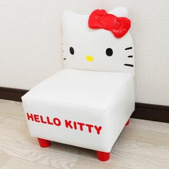 【真愛日本】13102800003 KT靠背沙發椅-白  三麗鷗 Hello Kitty 凱蒂貓 迷你沙發 兒童沙發 現貨