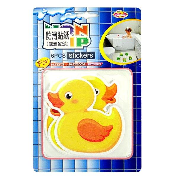 【888便利購】小鴨地板防滑貼紙(1組6張)
