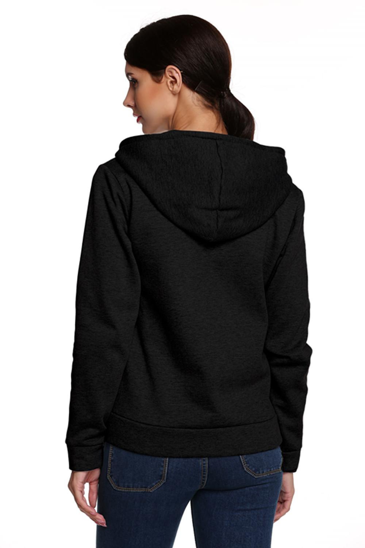 Women Casual Slim Fit Zip-up Hoodie Jacket 0