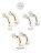 日本CREAM DOT  /  ピアス レディース フープピアス ライン ビジュー ゴールド シルバー 上品 エレガント カジュアル 金属アレルギー ニッケルフリー ワンポイント 華やか  /  qc0206  /  日本必買 日本樂天直送(890) 2