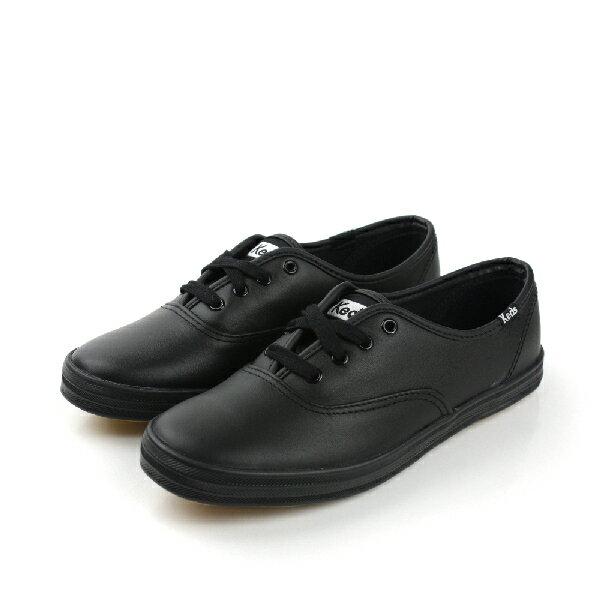 Keds 皮革 舒適 戶外休閒鞋 黑色 女鞋 no008