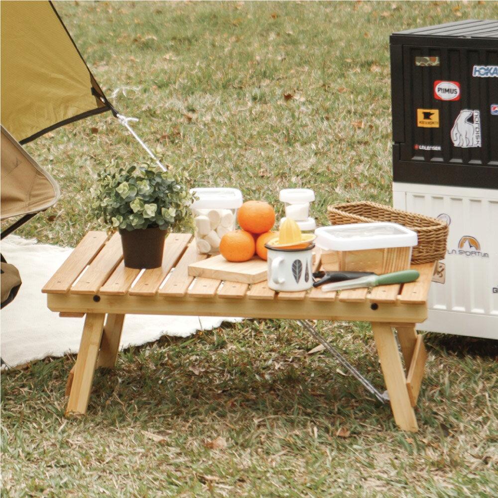 折疊桌/摺疊桌/露營桌/和室桌 戶外質感折疊露營桌 完美主義 【K0068】