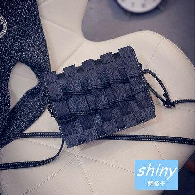 shiny藍格子:~全店滿600折50【P093】shiny藍格子-復古女包.新款日韓版簡約單肩斜挎小方包