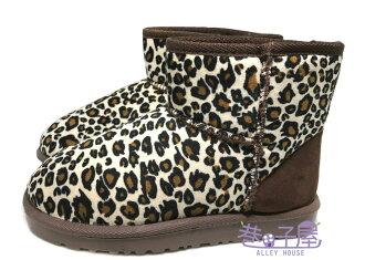 【巷子屋】女款豹紋溫暖刷毛低筒雪靴 兩色 [SH1] 超值價$198