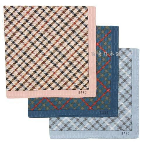 百倉日本舖:【百倉日本舖】英國品牌DAKS格紋絲巾日本製圍巾領巾