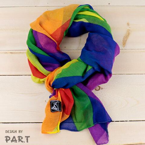 (PAR.T)彩虹商品-彩虹大圍巾 - 限時優惠好康折扣