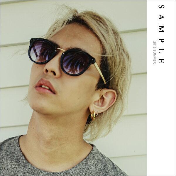 ~全店399 ~墨鏡 粗邊金色金屬拼接膠框太陽眼鏡~AG16826~~ SAMPLE