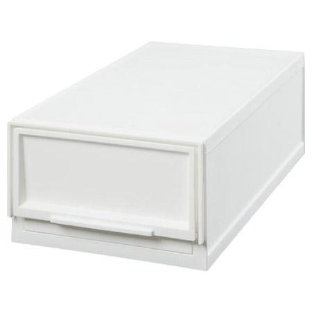 寬19cm 多功能抽屜收納盒 白色L 半格型 NITORI宜得利家居