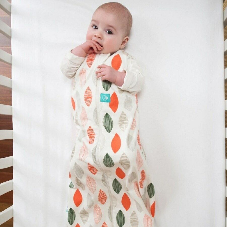 澳洲【ergoCocoon】有機棉二合一舒眠包巾-橙葉 (0.2TOG 夏季專用)