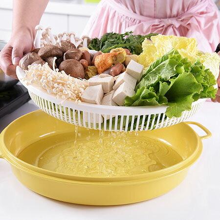 火鍋蔬菜瀝水籃(顏色隨機)廚房洗菜瀝水居家籃子洗菜籃火鍋【N202758】
