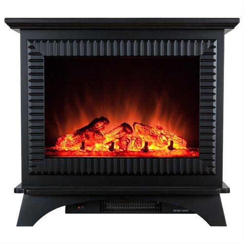 "27"" Electric Fireplace Heat Tempered Glass Freestanding Logs Insert Adjustable 5200 BTU AKFP0031 0"