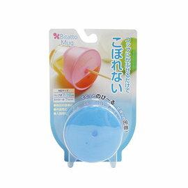 【淘氣寶寶】日本 BITATTAO 杯蓋/彈性防漏吸管杯蓋 魔法杯蓋 全面防漏-藍色 Blue 2016