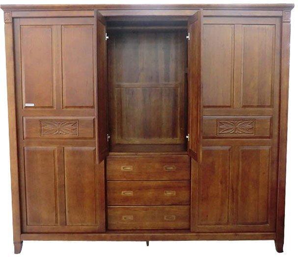 【尚品家具】絲特麗 401-07 黃檀全實木8x7尺衣櫥/推門衣櫃